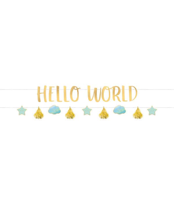 2 Slingers Hello World Blauw/Goud