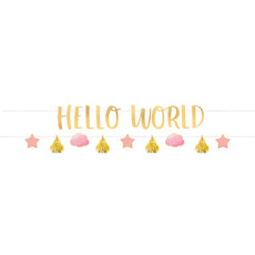 2 Slingers Hello World Roze/Goud