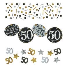 Tafelconfetti 50 Jaar Sparkling Goud (34gr)
