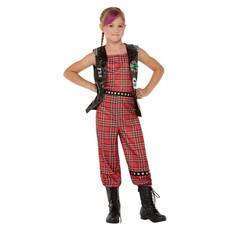 Punk Rocker Kostuum Meisje Tartan