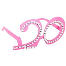 Bril roze diamantframe 20 jaar