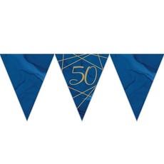 Vlaggenlijn 50 Jaar Navy Blauw/Goud - 3,7m