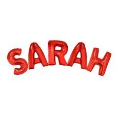 Folieballonnen Set Sarah Rood Groot