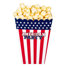 Popcornbakjes American Party USA (4st)