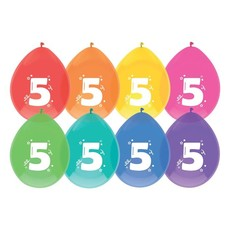 Ballonnen 5 Jaar Kleurenmix