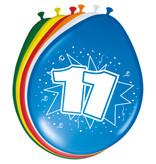11 Jaar Ballonnen 30cm (8st)