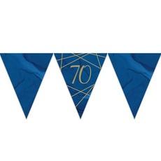 Vlaggenlijn 70 jaar Navy/Goud - 3,7m