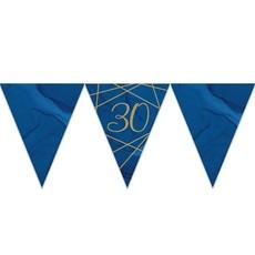 Vlaggenlijn 30 jaar Navy/Goud - 3,7m