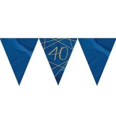 Vlaggenlijn 40 jaar Navy/Goud (3,7m)