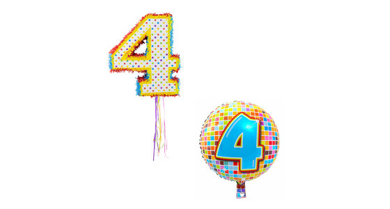 Verjaardag 4 Jaar