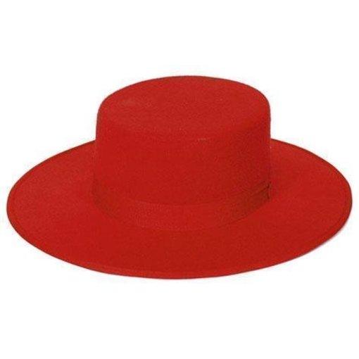 Spaanse hoed vilt rood