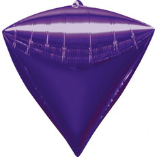 Folieballon Diamant Paars (38x43cm)