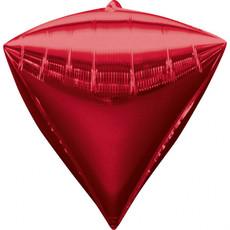 Folieballon Diamant Rood (38x43cm)