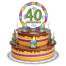 3D Wenstaart 40 Jaar