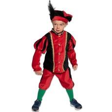 Pietenkostuum Kind Rood/Zwart Elite