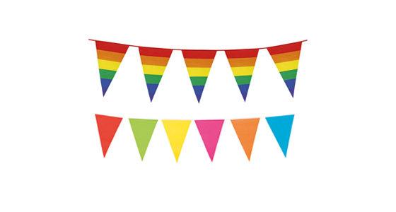 Regenboog vlaggetjes