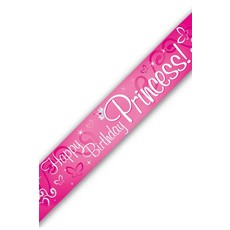Banner 'Happy Birthday Princess' (270cm)