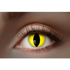 UV Flash Gele Kat kleurlenzen 1 Maand