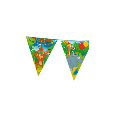 Verjaardags Vlaggenlijn Jungle Print (6m)