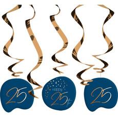 Swirls 25 Jaar Elegant True Blue (5st)