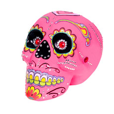 Sugar Skull Day Of The Dead Luxe Roze (14x20cm)