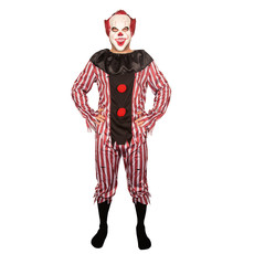 Killer Clown Kostuum Wayne Rood/Wit