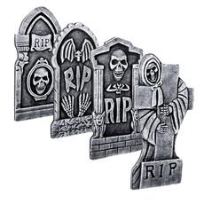 Halloween Grafsteen RIP Skull 41x20cm