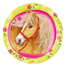 8 borden Paarden Charmant 23cm