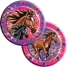 Paarden borden Trendy 8st 23cm