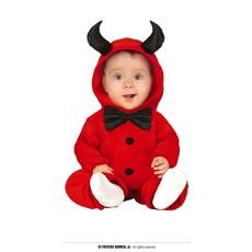Duivel Jumpsuit Rood Baby Met Strik