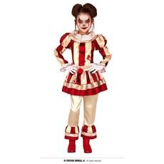 Enge Clown Kostuum Meisje Goud/Rood