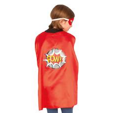 Superheld Cape Met Masker Rood Kind