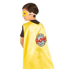 Gele Superheld Cape Met Masker Kind