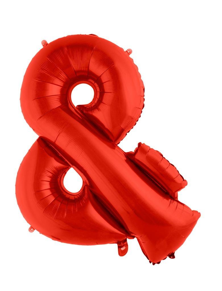Feestbazaar Folieballon '&' Teken Rood 100cm online kopen
