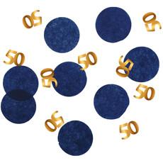 Confetti 50 Jaar Blauw/Goud Elegant True Blue (25gr)