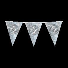 Vlaggenlijn 25 Jaar Getrouwd Zilver (10m)