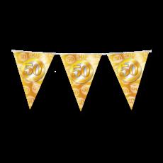 Vlaggenlijn 50 Jaar Getrouwd Goud (10m)