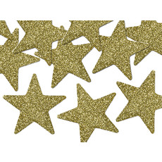 Gouden Sterren Glitter Decoratie (8st)