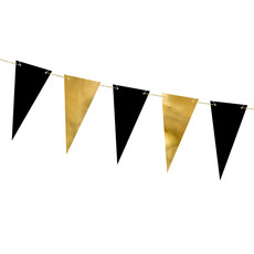 Mini Vlaggenlijn Goud/Zwart (2,15m)