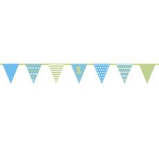 Vlaggenlijn 1 Jaar Blauw/Groen (1,35m)
