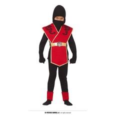 Ninja Kostuum Kind Rood/Zwart