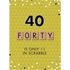 Verjaardagskaart 40 Jaar Scrabble