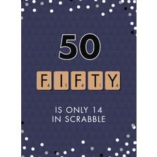 Verjaardagskaart 50 Jaar Scrabble