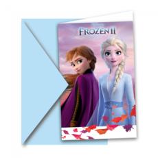 Uitnodigingen Frozen II (6st)
