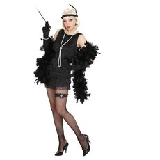 Luxe flapper 20s kostuum zwart