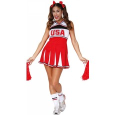 USA Cheerleader outfit dames