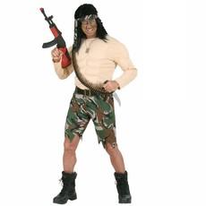 Gespierde Soldaat Rambo kostuum