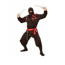 Super Ninja heren kostuum gespierd
