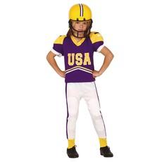 American Football Kostuum Kind Paars