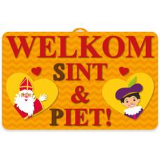 Deurbord Sint en Piet 58x37cm